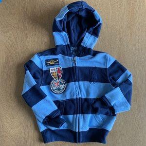 🏇🏼 2/$20 Polo Ralph Lauren Stripe Zip Hoodie 3T